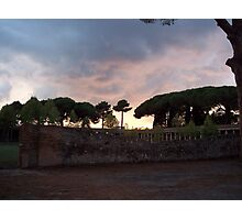 As the Sun Sets Over Pompeii Photographic Print