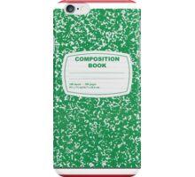 Green Composition Notebook iPhone Case/Skin