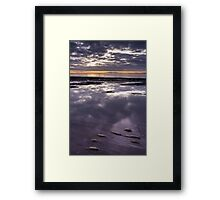Milford Beach Sunrise Framed Print