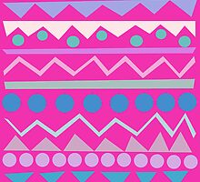 Mayan - Teal/Hot Pink/Lilac by pacificily