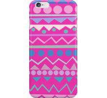 Mayan - Teal/Hot Pink/Lilac iPhone Case/Skin
