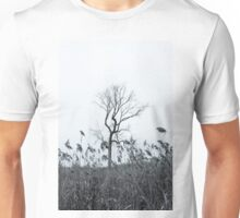 Lone Tree With Reeds In A Field Unisex T-Shirt