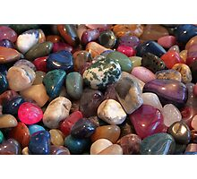 Polished Pebbles Photographic Print