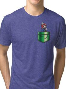 Mario Pipe Pocket Tri-blend T-Shirt