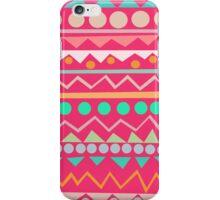 Mayan - Mint/Hot Pink/Orange iPhone Case/Skin