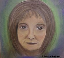 Portrait of Lady - Soft Pastels by Janette Oakman