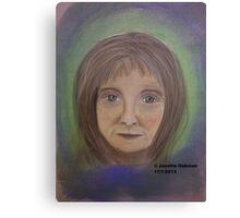 Portrait of Lady - Soft Pastels Canvas Print