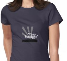 """Mr. S """"Grey Sunshine"""" Womens Fitted T-Shirt"""