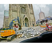 Cathedral Torn Up Steps Photographic Print