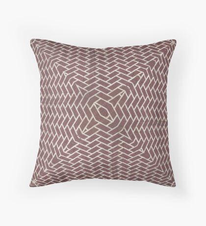 Brick Burst Throw Pillow