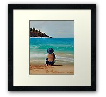 Watching The Break Framed Print