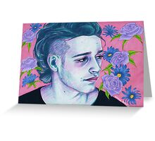 matty with flowers Greeting Card