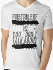 """Fight Club, """"The first rule is"""" Mens V-Neck T-Shirt"""