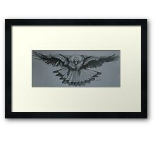 Magpie - Pencil Sketch Framed Print