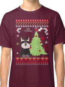 Schnauzer Ugly Christmas Sweater Classic T-Shirt