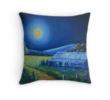 Moonlit Country Throw Pillow
