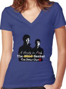 Sherlock Series 1 Women's Fitted V-Neck T-Shirt