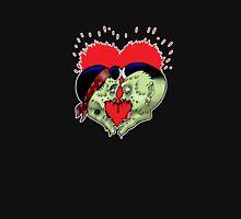 Psycho heart splat Womens Fitted T-Shirt