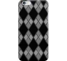 Gray & Black Checkers iPhone Case/Skin