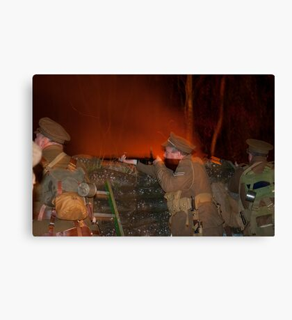 A Night in the Trenches Canvas Print