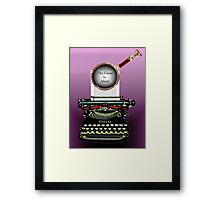 Arthur Conan Doyle Knows The Game Is Afoot! Framed Print