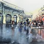 Place des Chartrons - Bordeaux - Watercolor by nicolasjolly