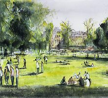 Jardin public - Bordeaux - Watercolor by nicolasjolly
