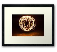 light ball Framed Print