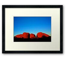 Kata Tjuta Sunset Framed Print