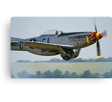 "P-51D Mustang ""Nooky Booky IV"" - Duxford Flying Legends 2013 Canvas Print"