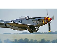 """P-51D Mustang """"Nooky Booky IV"""" - Duxford Flying Legends 2013 Photographic Print"""