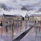 Place de la Bourse - Bordeaux - Watercolor by nicolasjolly