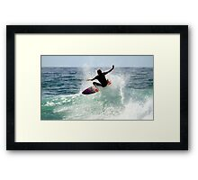 Surfing Snapper Rocks Framed Print