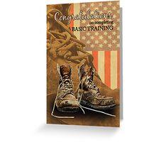 Basic Training Congratulations Combat Boot Greetings Greeting Card