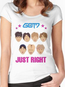 Got7 Just Right Women's Fitted Scoop T-Shirt
