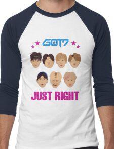 Got7 Just Right Men's Baseball ¾ T-Shirt