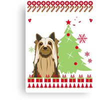 Silky Ugly Christmas Sweater Canvas Print
