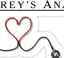 Grey Anatomy + Stethoscope  Sticker