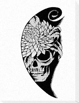 Skull Flower by BungleThreads