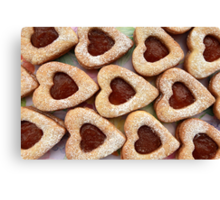 cookie hearts Canvas Print