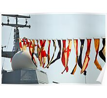 naval signal flags Poster