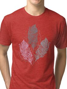 Patterned feathers Tri-blend T-Shirt