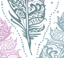 Patterned feathers Sticker