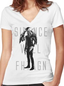 Silence Will Fhtagn Women's Fitted V-Neck T-Shirt