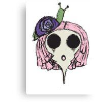 Snail Girl Canvas Print