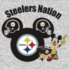 Steelers Nation football Mickey Mouse by sweetsisters