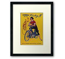 Vintage poster - Moped Framed Print