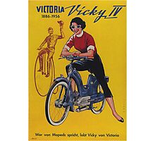 Vintage poster - Moped Photographic Print