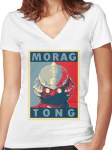 Morag Tong Women's Fitted V-Neck T-Shirt