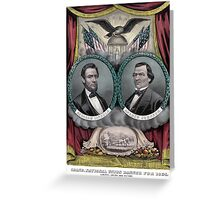 Abraham Lincoln and Andrew Johnson Election Banner 1864 Greeting Card
